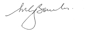 The image is of Martin Bowles' signature.