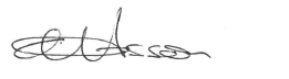 The image is of Liz Cosson's signature.