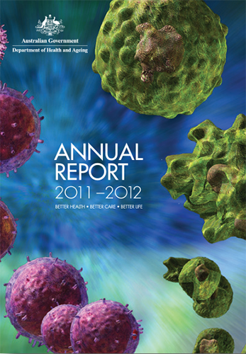 The image are of the covers of the 2011-12 Annual Reports.