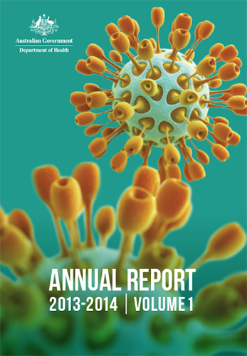 The image are of the covers of the 2013-14 Annual Reports.