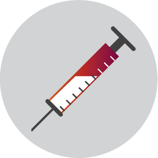 This icon depicts a syringe.