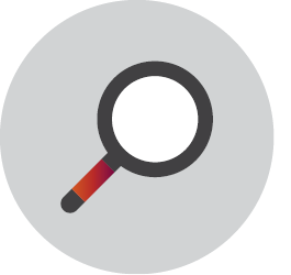 This icon depicts a magnifying glass.